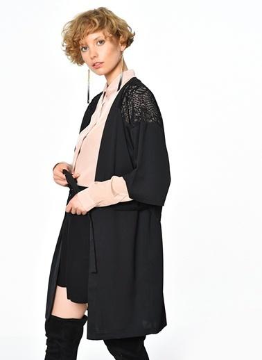 Ichi Dantelli Elbise Siyah